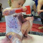Toddler doing Messy Play