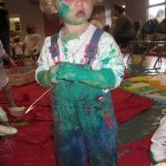 Messy Play can include paint