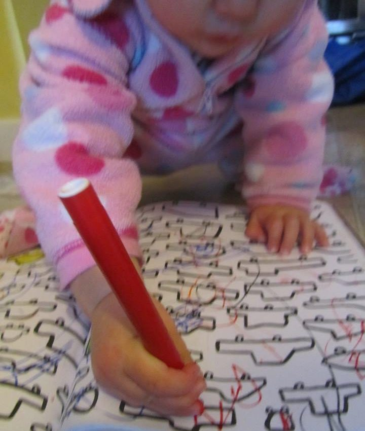 writing and drawing through messy play